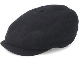 Hatteras Wool/Cashmere Ef Black Flat Cap - Stetson
