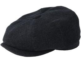 Hatteras Wool/Cashmere Black Flat Cap - Stetson