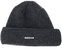 Merino Wool Dark Grey/Black Beanie - Stetson