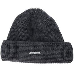Merino Wool Dark Grey Black Beanie - Stetson beanies - Hatstoreaustralia.com b438e4be0141
