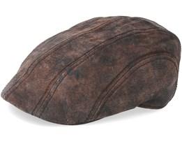 Ivy Cap Pigskin Dark Brown Flat Cap - Stetson