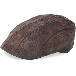 12e9aa378ef Stetson Ivy Cap Pigskin Dark Brown Flat Cap - Stetson £89.99
