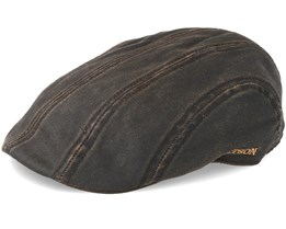 Ivy Cap Co/Pe Dark Brown Flat Cap - Stetson