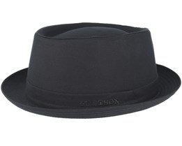 Cotton Black Pork Pie - Stetson