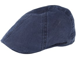 Texas Organic Cotton Navy Flat Cap - Stetson