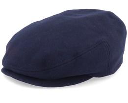 Kent Wool/Cashmere Ear Flap Navy Flat Cap - Stetson