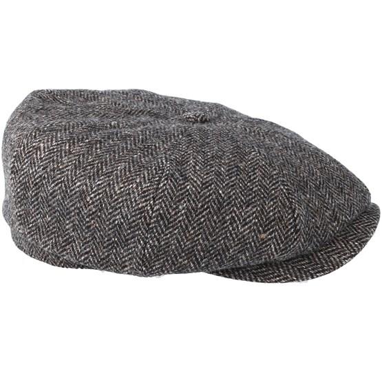 Hatteras Woolrich Herringbone Black Grey Flat Cap - Stetson caps -  Hatstoreworld.com aacf44cb8f1