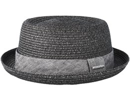 Toyo Heather Black Porkpie - Stetson