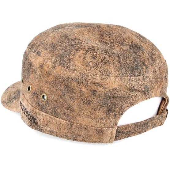 Army Pigskin Brown Adjustable - Stetson caps - Hatstoreworld.com d6e93cf9dc1
