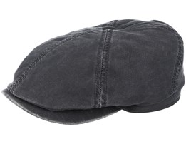 6-Panel Co/Pes Dark Grey Flat Cap - Stetson