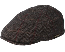Duck Cap Wool Brown Flat Cap - Stetson