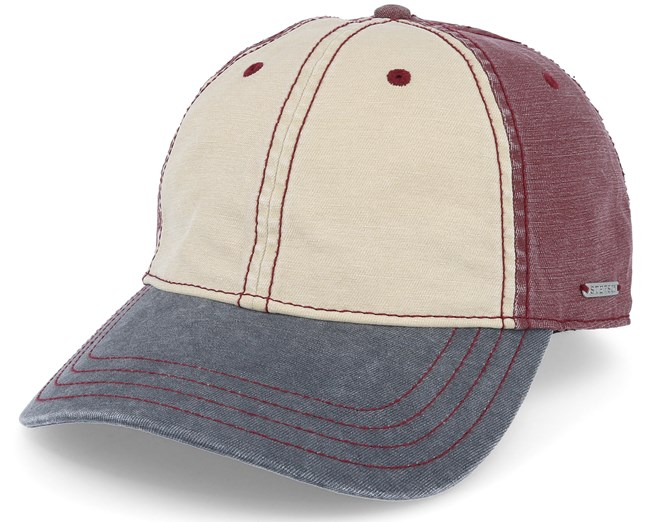51b1e66781c19d Baseball Cotton Beige/Burgundy/Navy Adjustable - Stetson caps -  Hatstoreworld.com