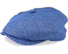 751bf85964b47 Hatteras Linen Blue Flat Cap - Stetson