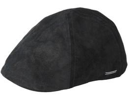 Texas Pig Skin Black Flat Cap - Stetson