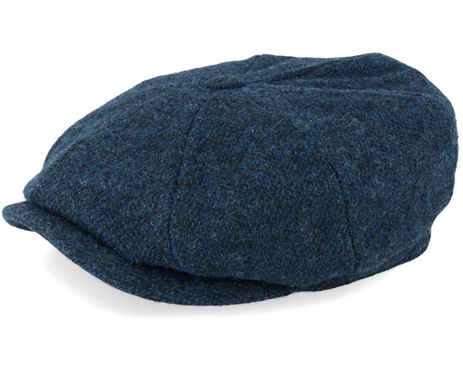 Hatteras Woolrich Herringbone Fischgrat Blue Flat Cap - Stetson caps -  Hatstoreaustralia.com 191e16e2eb9