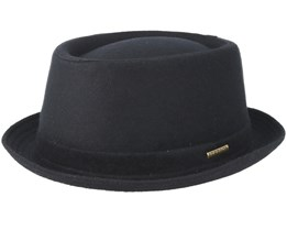 Wool Black Pork Pie - Stetson