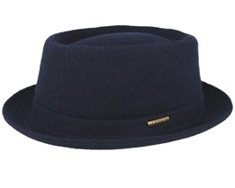 Wool Navy Pork Pie - Stetson
