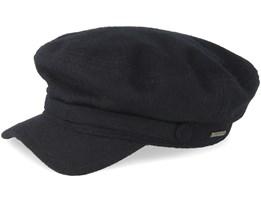 Riders Cap Wool Black Flat Cap - Stetson