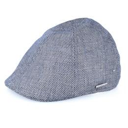 18794582e96b5 Texas Linen Blue Flat Cap - Stetson caps