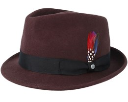 Woolfelt Dark Brown Trilby - Stetson