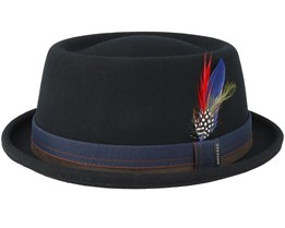 Woolfelt Black Pork Pie - Stetson