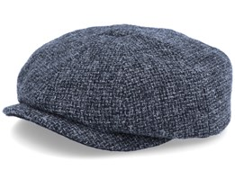 Hatteras Wool Heather Black Flat Cap - Stetson