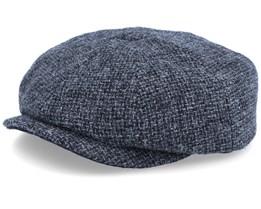 Hatteras Wool Heather Black Flat Cap - Stetson