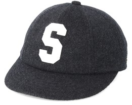Baseball Cap Wool Dark Grey Fitted - Stetson