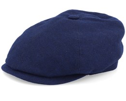 6-Panel Cap Virgin Wool/Cashmere Navy Flat Cap - Stetson