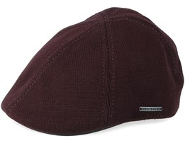Texas Cotton Knit Dark Brown Flat Cap - Stetson