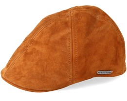 Texas Goat Suede Light Brown Flat Cap - Stetson
