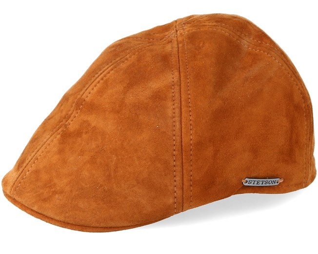 899cc8d38cc65 Texas Goat Suede Light Brown Flat Cap - Stetson caps - Hatstoreworld.com