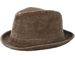 Player Printed Cord Brown Trilby - Stetson