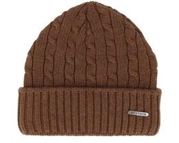 Wool Dark Brown Beanie - Stetson