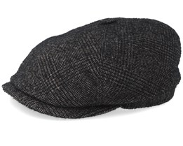 6-Panel Wool Black/Grey Flat Cap - Stetson
