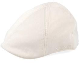 Texas Dyed Cotton Natural White Flat Cap - Stetson