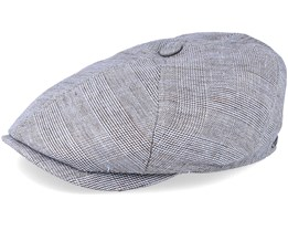6-Panel Linen Grey Flat Cap - Stetson