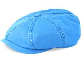 Hatteras Dyed Cotton Blue Flat Cap - Stetson