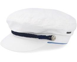 Riders Cap Dyed Cotton White Flat Cap - Stetson