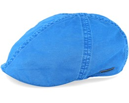 Texas Dyed Cotton Blue Flat Cap - Stetson