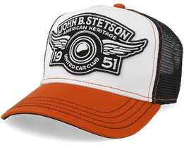 Car Club White/Orange Trucker - Stetson