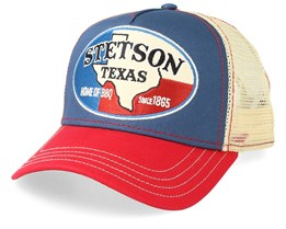 Texas Blue/Red/Beige Trucker - Stetson