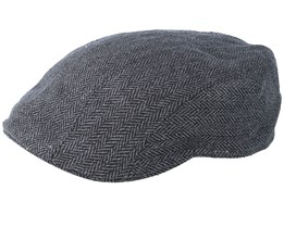 Ivy Cap Silk Fishgrat Grey Flat Cap - Stetson