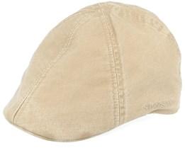 Texas Organic Cotton Khaki Flat Cap - Stetson