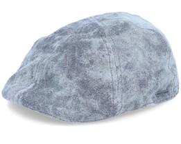 Texas Pig Skin Grey Flat Cap - Stetson