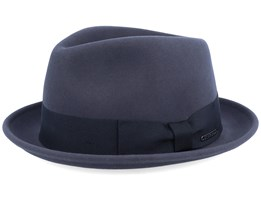 Player Woolfelt/Cashmere Dark Grey Fedora - Stetson