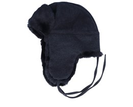 Bomber Cap Wool/Cashmere 2 Black Trapper - Stetson