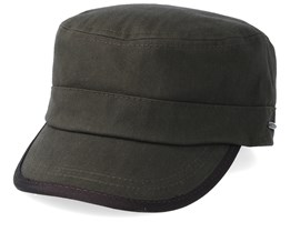 Cap Cotton Herringbone Dark Army Green Army - Stetson