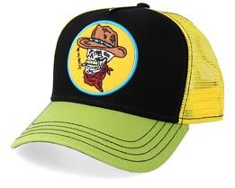 Skull Cowboy Black/Yellow/Green Trucker - Stetson