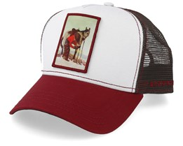 Horseshoe White/Red/Brown Trucker - Stetson
